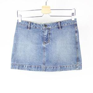 🍁Guess Womens Skirt Mini Denim Jean Size 24 Blue